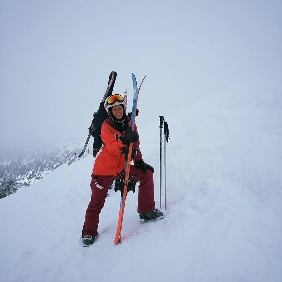 Gabrielle of North Organics - Skiing